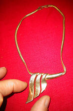 Bijou Collier Tour de Cou Vintage P&M Paris Belle Chaine Serpent Voilage