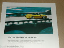 2003 Porsche Boxster advertisement page, Yellow Porsche Boxster convertible