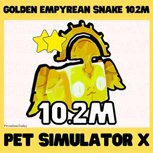 Golden Empyrean Snake / Pet Simulator X / Roblox / New pet / Good power