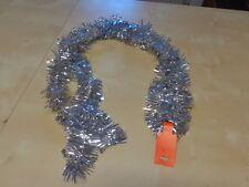Weihnachtsgirlande,Baumschmuck, Lametta silber 200cm x 10cm Weihnachten Baum