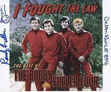 Bobby Fuller Four signed 8 x 10 photo Randy, Dewayne and Dalton Powell Proof