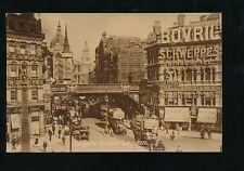LONDON Ludgate Circus Busy Street Scene 1926 PPC Philco Series