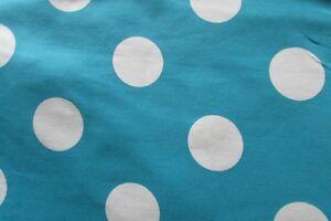 schöner Baumwolljersey Big Dots auf aqua 50x160cm Neu