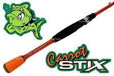 Carrot Stix SPINNING 6' MEDIUM Wild Orange Fishing Rod C2WX601M-MF-S