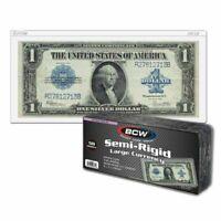 50 LARGE Semi Rigid Currency Banknote Holder Toploader BCW 9MIL US Bills Topload