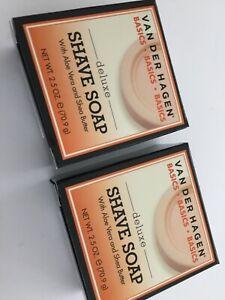 Van Der Hagen Deluxe Shave Soap 2 Bars 2.5oz each