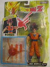 Dragon Ball Z Super Saiyan Goku SS Figure Jakks Pacific Red Hair Triple Energy