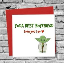 GREETINGS CARD BOYFRIEND I LOVE YOU FUNNY YODA BIRTHDAY VALENTINES DAY STAR WARS
