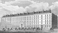 PARIS. Hotel Carde Corps. military, horseback 1834 old antique print picture