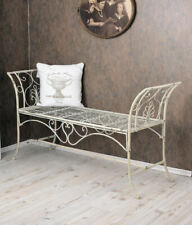 Garden Bench Shabby Chic Bench Bench White Metal Bench Country Style
