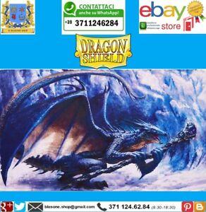 TAPPETINO Mago PLAY MAT PLAYMAT Dragon Shield Blu Limited Edition Carte 🤩🤩