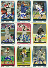 2012 Bowman JACOB JAKE ANDERSON Signed Card BLUE JAYS auto rc #1 PICK CHINO, CA