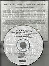 POWDERFINGER Baby I've Got you On My Mind PROMO Radio DJ CD single 2004 USA MINT