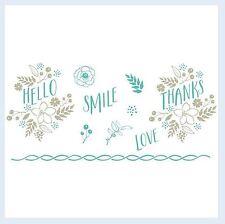 "Lifestyle Crafts-We ""R"" Letterpress Printing Plate Set FLORAL  Bloom ~03743-9"