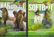 Lindner Hardbait & Softbait Bass Fishing 2 DVD LOT NEW