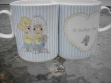 Nesting Pair 1987 Precious Moments Butcher Enesco ( A Perfect Team ) Mug Cup