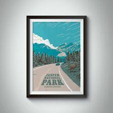 More details for jasper national park travel poster - framed - vintage - bucket list prints