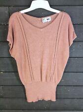 Annio Rossi 1067 Melon Dolman Sleeve Pullover Sweater Women's L