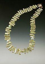Pearl Swarovski Crystal Necklace Sale - Bess Heitner Pistachio