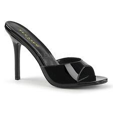 "Pleaser Classique-01 Slip On Shoes Mules 4"" Stiletto High Heels Drag Queen 3-13"