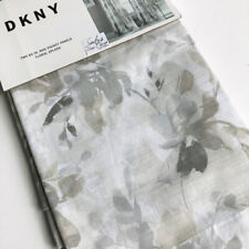 DKNY Floral Splash 2 WINDOW PANELS CURTAINS Drape GRAY BEIGE Taup Rod 50x84 grey
