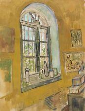 Van Gogh Drawings: The Studio Window - Asylum at Saint-Remy - Fine Art Print