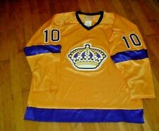 Vintage Los Angles Kings Hockey Jersey By Ebbets Field Flannels Gold/Purple L