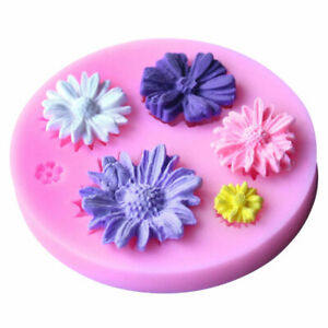 3D Daisy Flower Shape Cake Fondant Mold Silicone Sugarcraft Decor Cake DIY& T0N1