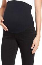 NYDJ 'Ami' Stretch Skinny Maternity Jeans Leggings Black MBQZ1771 Size 16