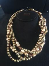 5 Strand Twisted Pearl Necklace