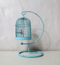 Cage à oiseau miniature maison de poupée Vintage 10cm
