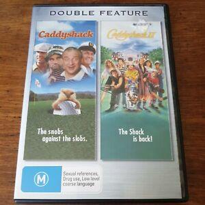 Caddyshack 1 + 2 Double DVD Set R4 Like New! FREE POST