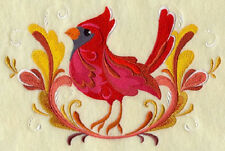 ROSEMALING CARDINAL  SET OF 2 BATH HAND TOWEL EMBROIDERED BY LAURA