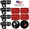 5 LED Lamp Bike Bicycle Front Head Light Rear Safety Flashlight Sets Waterproof