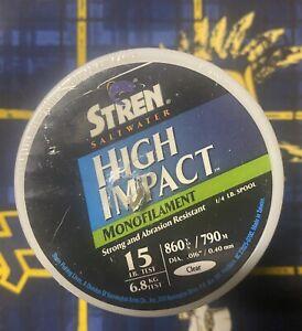 Stren High Impact Fishing Line 15 LB 860 YDs Yards Clear
