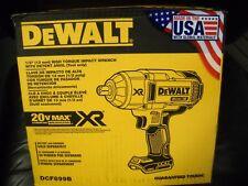 "DEWALT DCF899B 20V MAX XR Brushless High Torque 1/2"" Impact Wrench Bare Tool NEW"