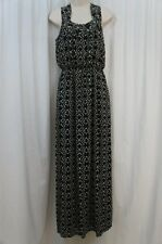 Studio M Dress Sz XS Black Ivory Combo Sleeveless Casual Dinner Maxi Dress