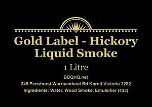 GIANT One Litre - Value - Liquid Smoke - TOP Grade - Hickory Smoke *EXPRESS Ship