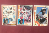 1983 TOPPS EDDIE MURRAY #530 ORIOLES + 1984 AND 1984 ALL STAR Lot of (3)