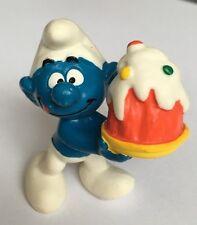 McDonalds HAPPY MEAL Jouet-Schtroumpf - 1996 plastique Figure/gâteau d'anniversaire