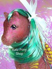 HQG1C Sea Glimmers Custom G1 Vintage MLP Style Sea Pony 💙 SEA ROSE 💙 MIP!