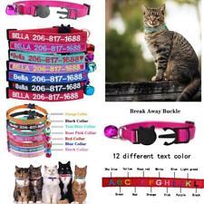 Custom Breakaway Cat Collar Personalized Cat-Id Collar Embroidered Pet Name Phon