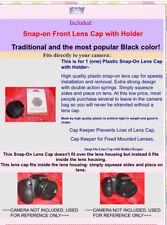 FRONT SNAP-ON LENS CAP + HOLDER FitsDirectlyTo KODAK Z710 Z740 Z650 ZD710 CAMERA