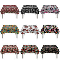 Cool Skull Printed Polyester Fabric Tablecloth Novelty Home Decor Rectangular