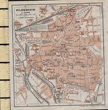 1925 GERMAN MAP ~ HILDESHEIM CITY PLAN ENVIRONS PUBLIC BUILDINGS PARKS SCHOOLS