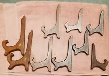 Wood Easel Type Plate Holders - 9 in set