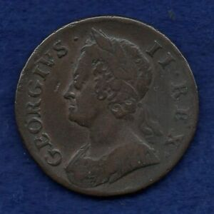 Great Britain, USA, George II 1749 Halfpenny (Ref. c8149)