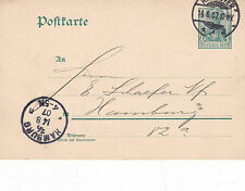 Germany 1907 Hamburg to Hannover CDS 5pfg Prepaid Postcard used VGC