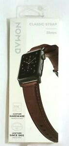 Nomad - Classic Leather Watch Strap for Apple Watch 38mm/40mm - Brown