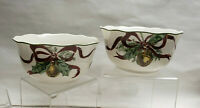TWO(2) - NOBLE EXCELLENCE China - HOLLY BELLS Pattern - SOUP/CEREAL BOWLS